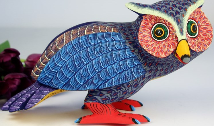 Oaxacan Wood Carving Damian Morales Owl