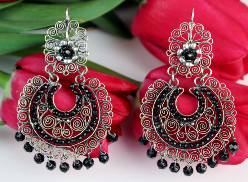 Oaxacan Sterling Silver Filigree Earrings by Yesenia Salgado