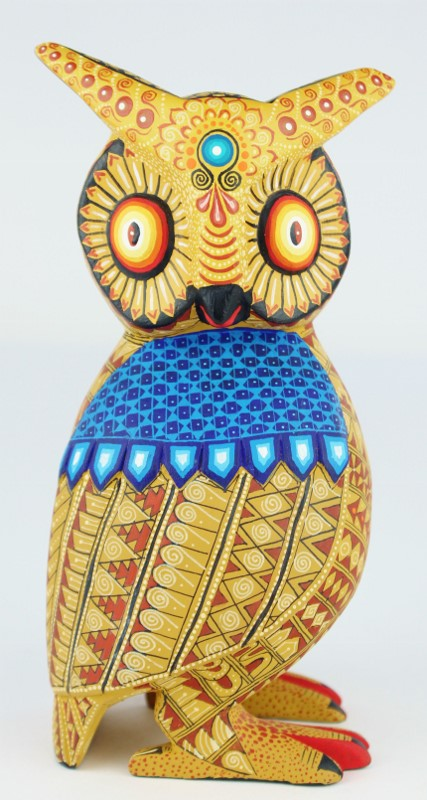 Oaxacan Wood Carving Julia Fuentes Lovely Brown Horned Owl